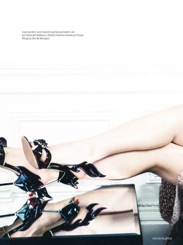 Prada Spring/Summer 2012 Collection shoe, Dakota Fanning, ELLE UK, february 2012 issue,