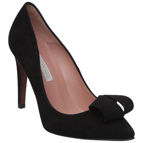 Pied A Terre Ambar Ribbon Detail Stiletto Court Shoes, Black, john lewis, topshop