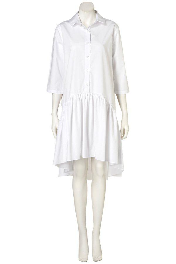 Poplin Drop Waist Shirtdress by Topshop Boutique
