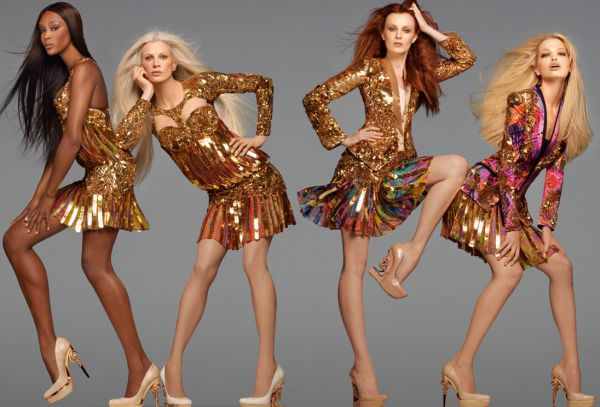Naomi, Karen, Kristen & Daphne by Steven Meisel for Roberto Cavalli S/S 2012  advertising campaign....