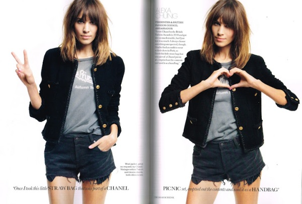 model poppy delevigne model elisa sednaoui Photographed by Thomas Schenk UK Elle March 2012 Chanel