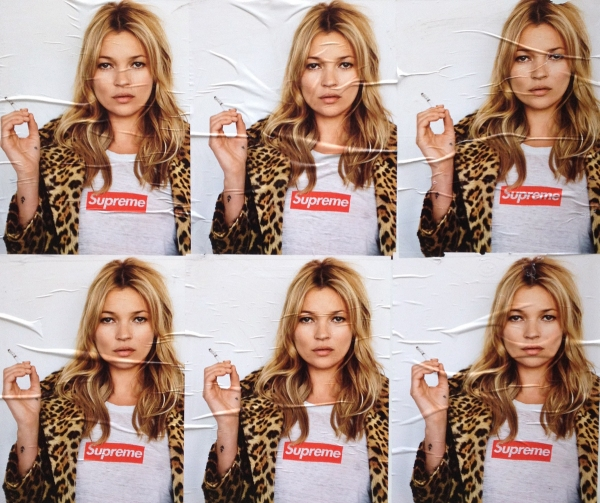 Supreme x Kate Moss Spring/Summer 2012 advertising poster campaign