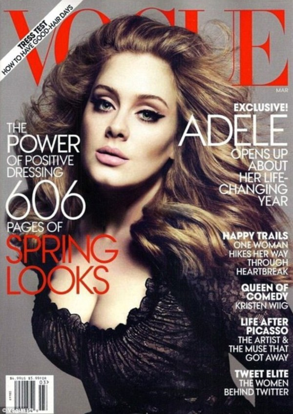 Adele by Mert Alas & Marcus Piggott US Vogue March 2012