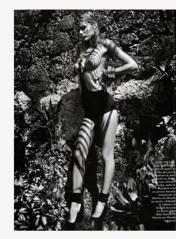 Edita Vilkeviciute in Celine 90 mm Multiples Ankle Strap Pump in Black by Greg Kadel Vogue España March 2012 Magazine: Vogue Spain March 2012 Model: Edita Vilkeviciute Photographer: Greg Kadel Stylist: Havana Laffitte Supervised by: Belén Antolin Hair: Franco Gobbi @ Art Department Make-Up: Mariel Barrera @ Joe Management