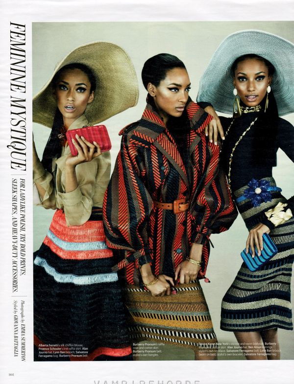 Anais Mali, Jasmine Tookes, and Jourdan Dunn by Emma Summerton W March 2012