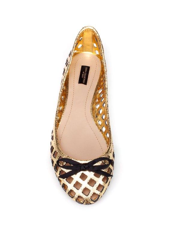 Zara Spring Summer 2012 patent ballerina shoe