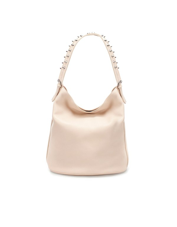 Bag with tacks in nude by Zara