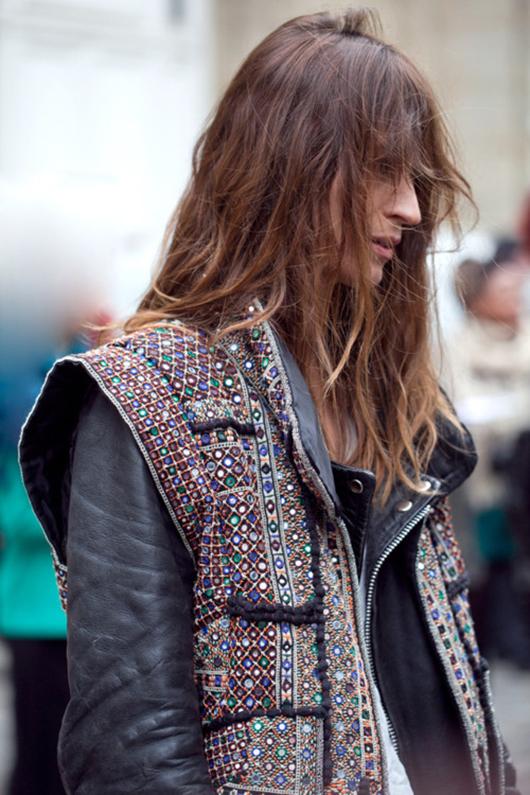 Caroline De Maigret in Isabel Marant SS12 Wad jacket