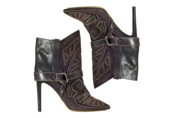Isabel Marant Autumn/Winter 2013 Blackson boots in Noir/Rouge