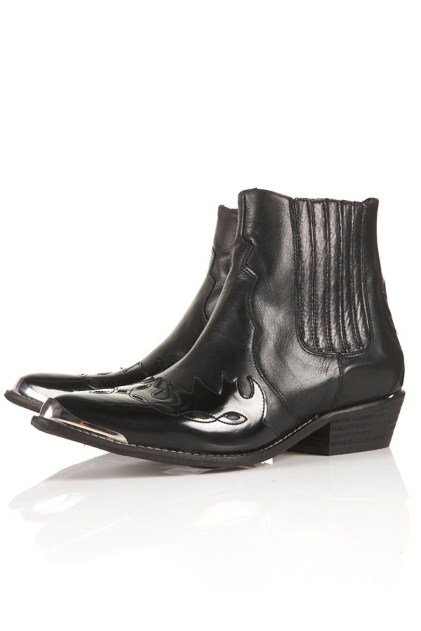 Topshop ARSON Flame Western Boots, ankle boots, cowboy boots,