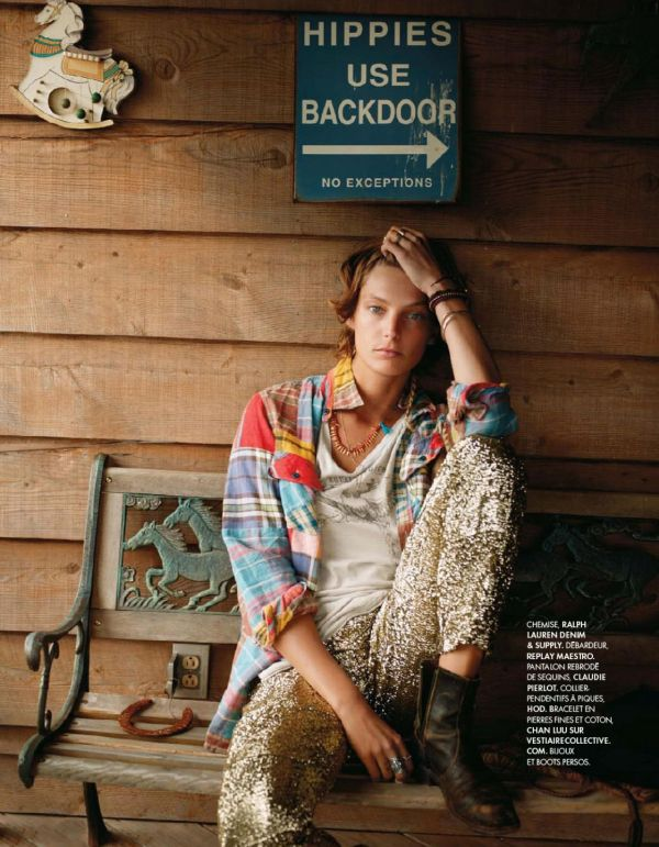 "Elle France July 13 2012 ""Wild Spirit"" model Daria Werbowy by photographer Cass Bird"