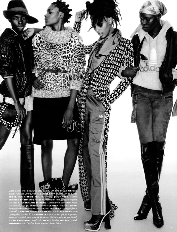 Photography by by Greg Kadel Vogue Germany September 2012 adidas