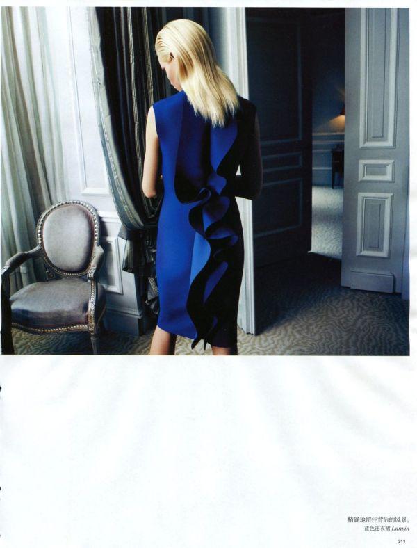 "Vogue China Aug2012 ""Colourful Elegance"" Photographer: Camilla Akrans Stylist: Ludivine Poiblanc Model: Ginta Lapina"