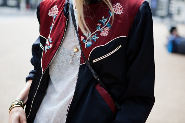 Isabel Marant Lindsey embroidered sateen jacket caroline b photographer blogger carolines mode