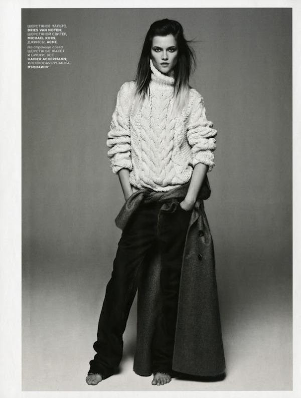 Vogue Russia September 2012 Model: Kasia Struss Photographer: Claudia Knoepfel & Stefan Indlekofer