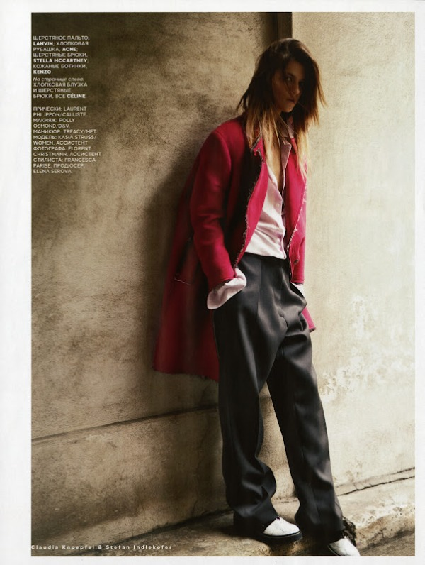 Vogue Russia September 2012 Model: Kasia Struss Photographer: Claudia Knoepfel & Stefan Indlekofer
