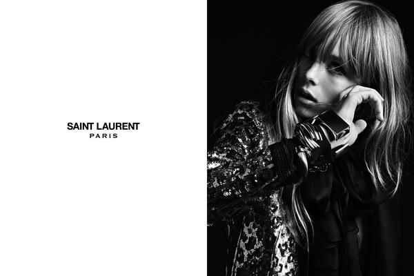 Saint Laurent Spring/Summer 2013 Adverts Edie Campbell