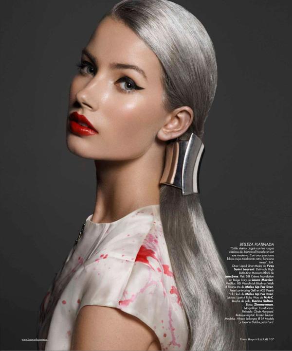 Joanna Stubbs by Darren Tieste Harper's Bazaar Español January 2013