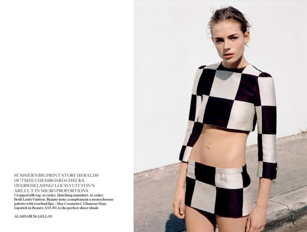 Rosie Tapner by Alasdair McLellan UK Vogue March 2013