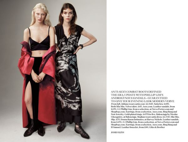 Meghan Collison & Juliana Schurig by Josh Olins UK Vogue March 2013