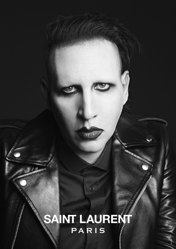 Marilyn Manson  by Hedi Slimane for Saint Laurent