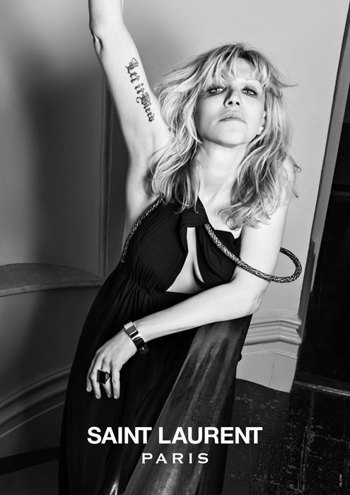 Courtney Love by Hedi Slimane for Saint Laurent