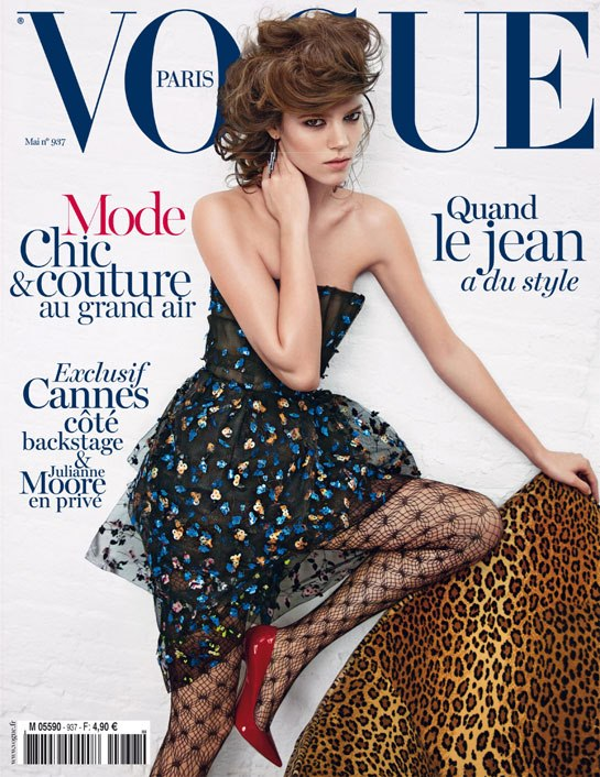 Freja Beha Erichsen by Inez van Lamsweerde and Vinoodh Matadin Vogue Paris May 2013